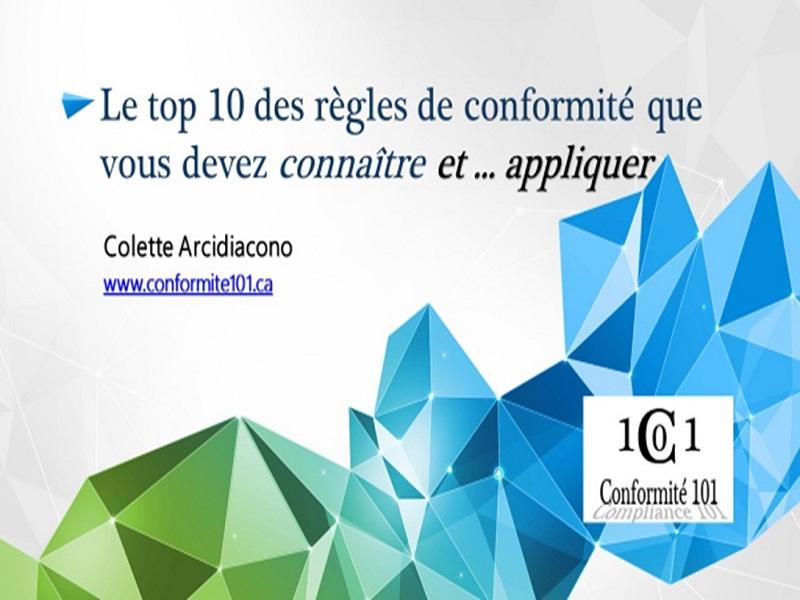 Le top 10 des règles de conformité que vous devez connaître et appliquer