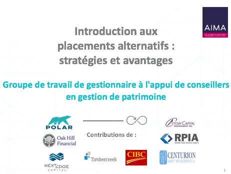 Introduction aux placements alternatifs: stratégies et avantages