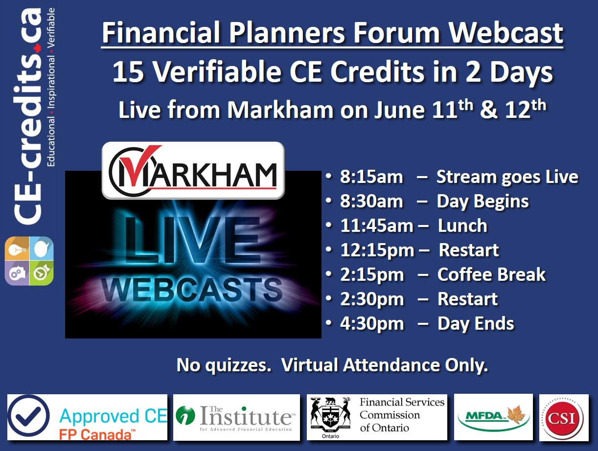 June 11th & 12th:  Live Webcast Event